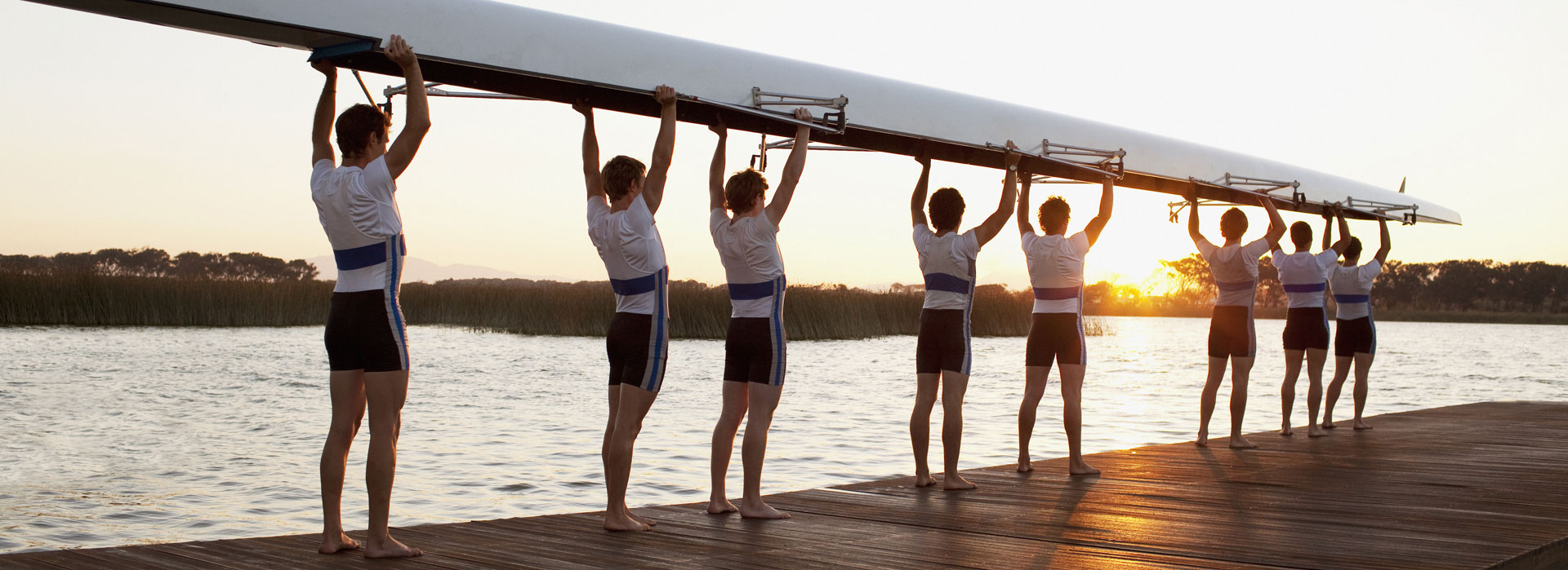 Rowing team symbolizes our professionals combining their talents, knowledge and passion to deliver superior customer service