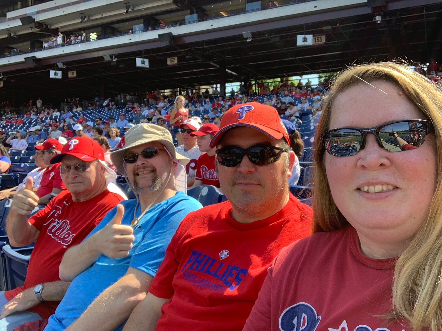 Enjoying Company-Provided Phillies Tickets on Saturday