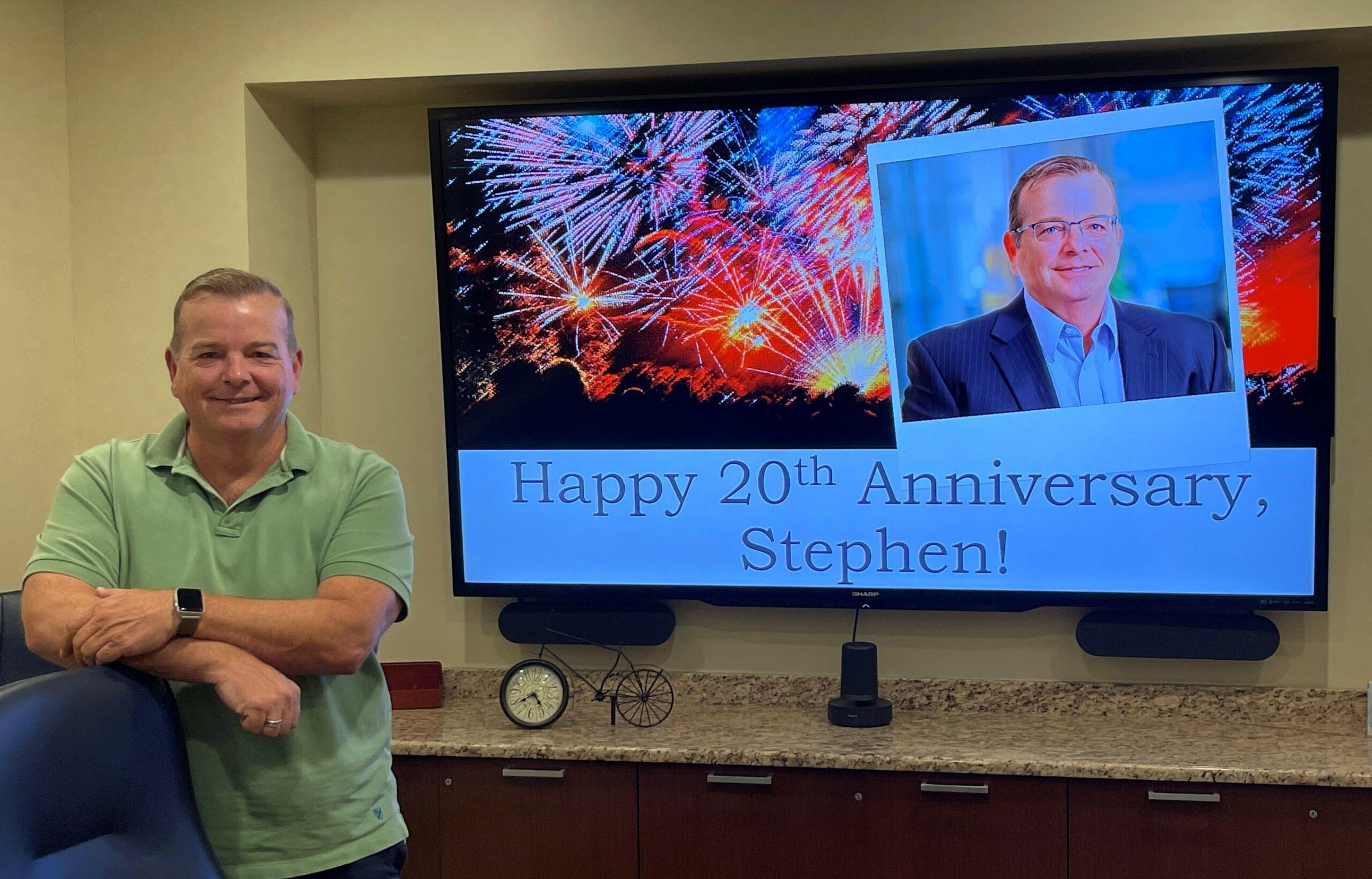 Celebrating Stephen Conyers' 20th Anniversary